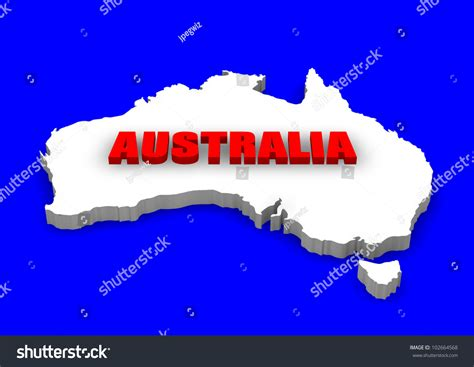 Search In Australia By Name 3d Model Of Australia Continent With Name Stock Photo 102664568