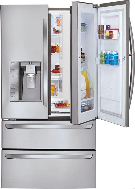 Glass Door Refrigerator And Freezer For Home Lg Lmx30995st 30 3 Cu Ft Door Refrigerator With Spillprotector Glass Shelves Door In