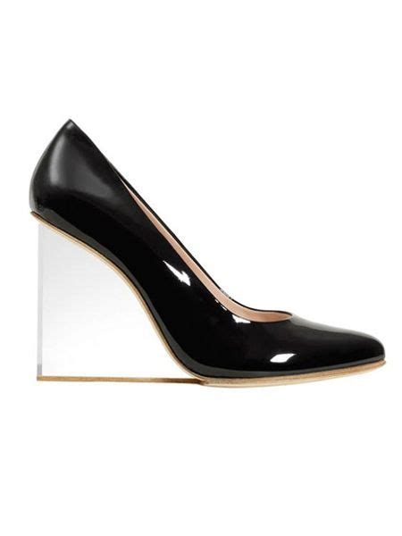 lucite wedge shoes