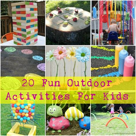 backyard activities for kids 20 fun outdoor activities for kids