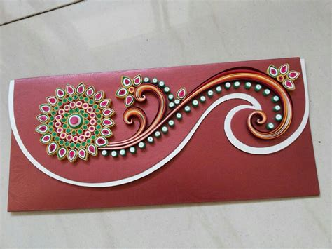 Handmade Envelope Designs - quilling krafty ideaz quilling swirls and