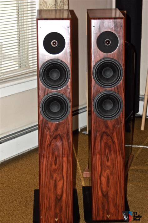 vienna acoustic strauss speakers in beautiful rosewood