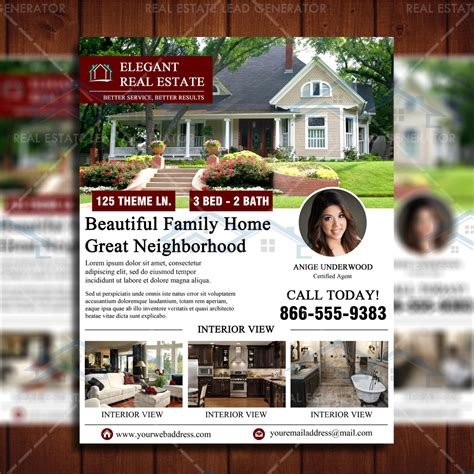 real estate open house flyers elegant open house flyer template real estate lead generator