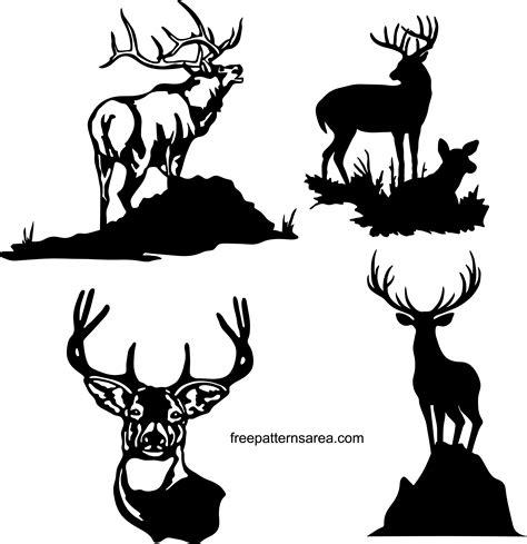 deer silhouette vector   dxf file
