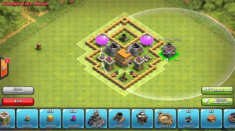 coc layout for th4 clash of clans hybrid base newhairstylesformen2014 com
