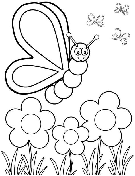 preschool nature coloring pages nature coloring pages for preschoolers archives