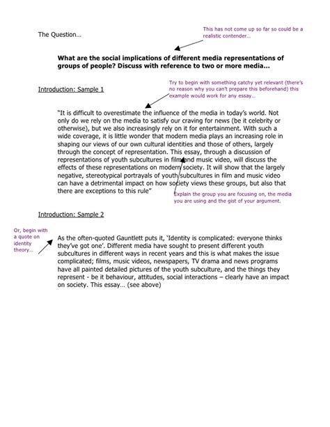 Essay Identity Questions by G325 Exle Response Media And Collective Identity