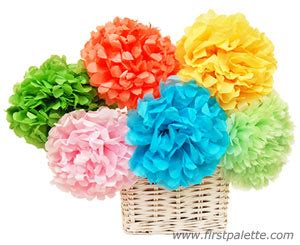 How To Make Mexican Paper Flowers Step By Step - mexican tissue paper flowers craft crafts