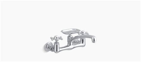 kohler k 159 3 antique wall mount kitchen sink faucet standard plumbing supply product kohler k 149 3 cp