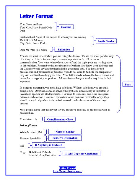 business letter format to cc best photos of business letter spacing business