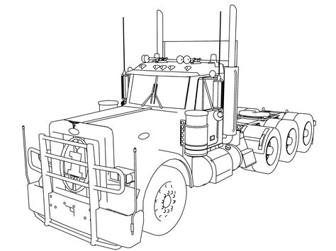 long trailer truck tir coloring pages wecoloringpage