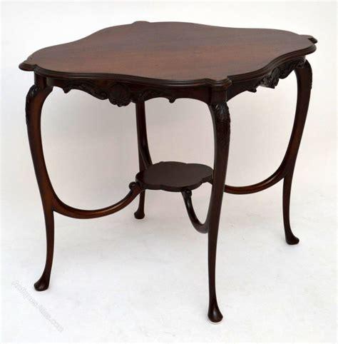 antique nouveau mahogany occasional table antiques atlas