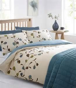 Aubergine Duvet Set Peacock Teal Amp Cream Reversible King Size Duvet Quilt