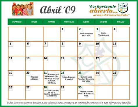Calendario De Actividades Ismar 183 Particular Bilingue