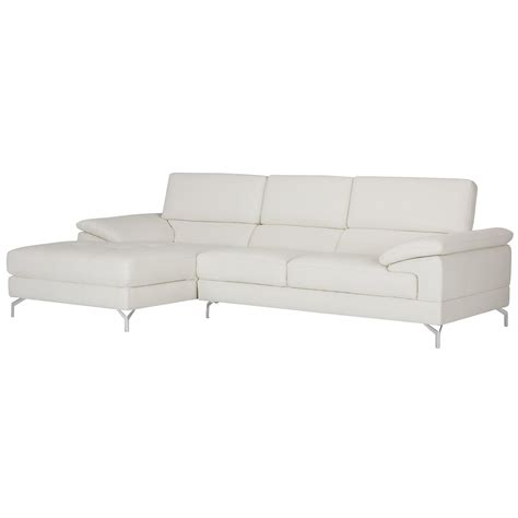 microfiber chaise sectional city furniture dash white microfiber left chaise sectional