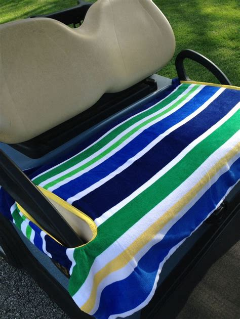 towel seat covers for golf carts nautical golf cart seat cover 2 layers of terry cloth