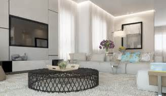 Livingroom Decorations White Living Room Decor Scheme Interior Design Ideas