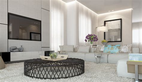 White Living Room by White Living Room Decor Scheme Interior Design Ideas