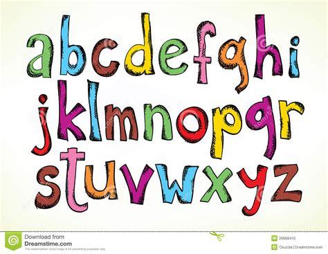 Design Lettre De L Alphabet Lettres Gribouill 233 Es De L Alphabet Photo Stock Image 29968410