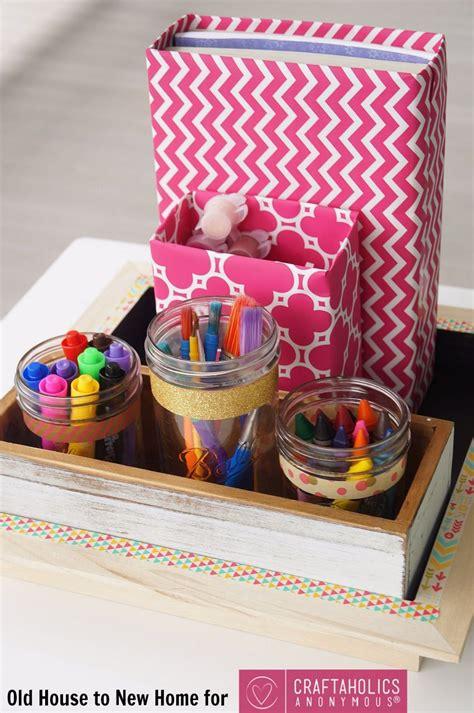 craftaholics anonymous   school supplies organizer