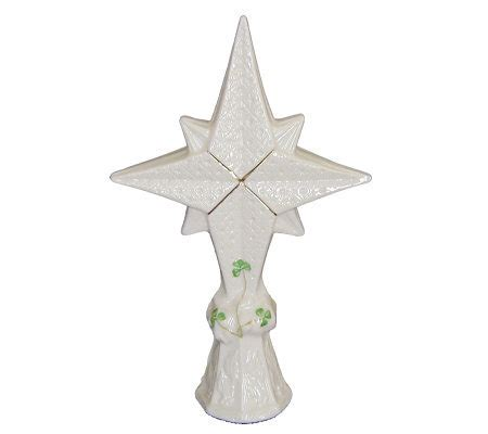 belleek bethlehem star tree topper qvc com