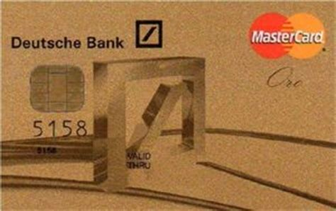visa card deutsche bank bank card mastercard gold unembossed deutsche bank