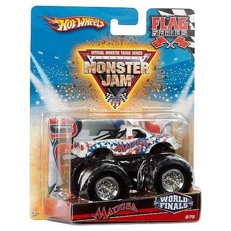 diecast monster jam trucks wheels monster jam flag series 1 64 scale diecast