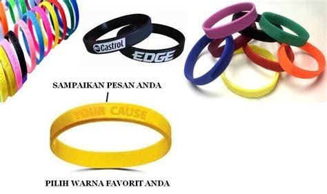 Karet Bkk kreasi digital printing gelang karet sebagai promosi anda