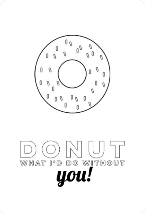 free thank you card templates donut sweet donut color in thank you card template