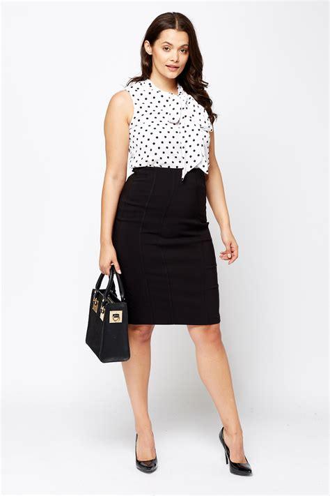 black pencil midi skirt just 163 5