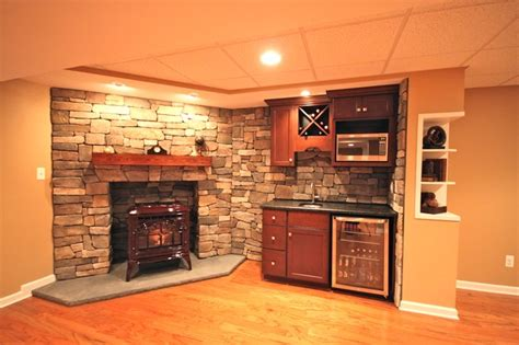 Cottage Bathrooms Ideas An Open Concept Traditional Basement Other Metro