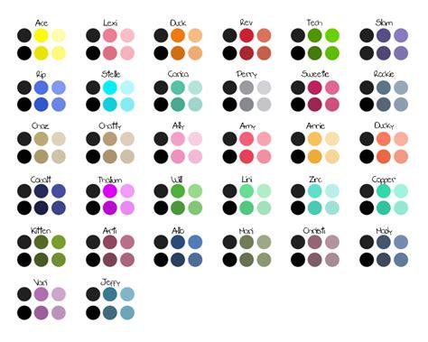 Lu Rm lu rm color palette bonus 1 suits by kittydarner on