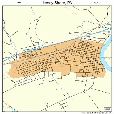 jersey shore map jersey shore pennsylvania map 4238128