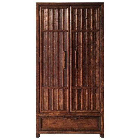 1975 century faux bamboo armoire for sale at 1stdibs