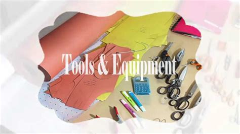fashion design equipment list tools and equipment for fashion design youtube