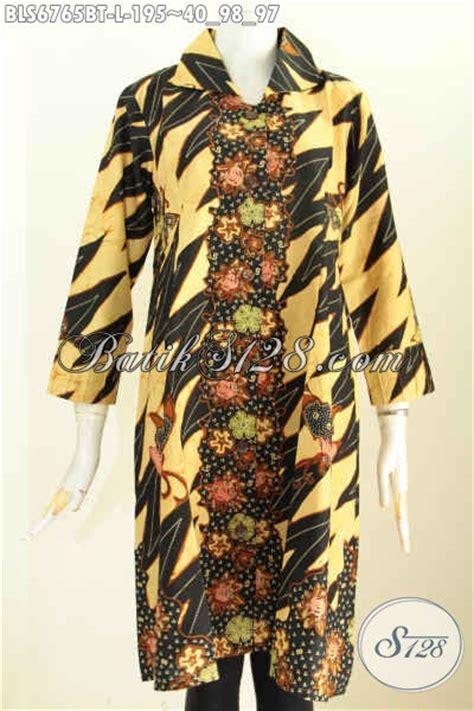 Terusan Daleman Pendek Kode 5906 sedia baju batik blus masa kini pakaian batik halus