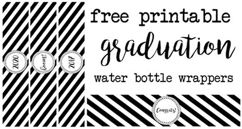 graduation labels template free graduation water bottle wrappers paper trail design