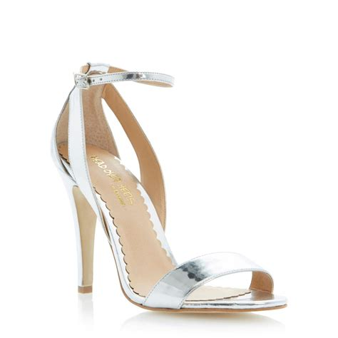 silver heeled sandals high heel silver sandals fs heel