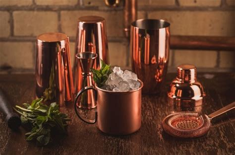 bar ware copper barware