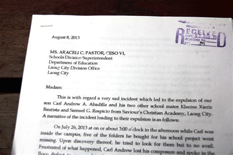 Apology Letter To Tagalog Education