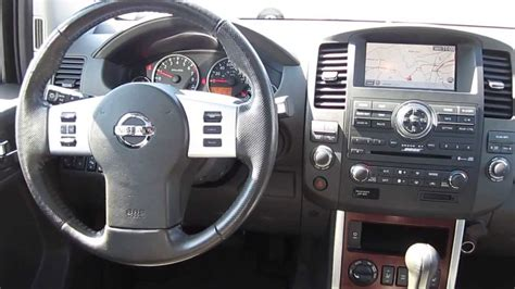 black nissan inside 2008 nissan pathfinder black stock a3118a interior