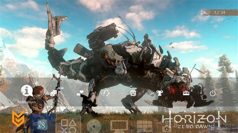 ps4 nfl themes horizon zero dawn ps4 theme screenshots and video preview