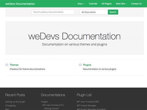 bootstrap themes documentation wedocs a free wordpress documentation theme based on
