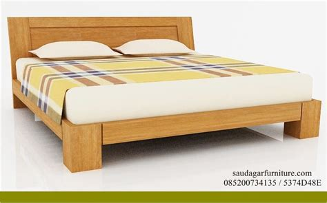 Tempat Tidur Kayu Di Bandung tempat tidur dipan kayu solid minimalis saudagar furniture