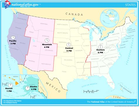 united states timezone map with cities time zones united states canada image collections