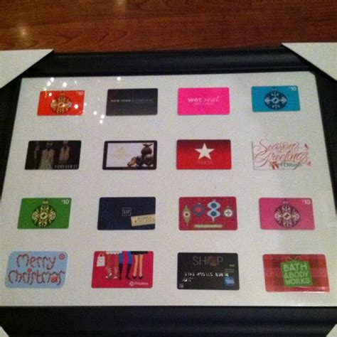 best christmas present ever husband framed gift cards i
