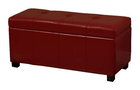 red leather bench warehouse of tiffany ariel red leather storage bench
