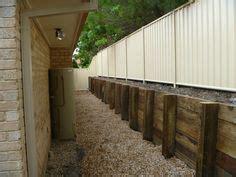 poured concrete retaining wall design yard ideas