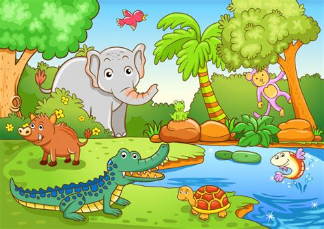 happy animals jigsaw puzzle in animals puzzles on