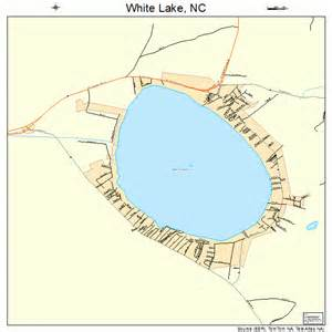 carolina lakes map white lake carolina map 3773300